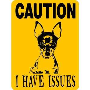 TOY FOX TERRIER ALUMINUM GUARD DOG SIGN 3705TFT