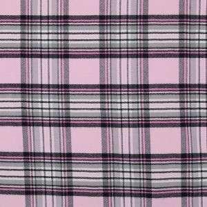 Classic Plaid Car Vest Harness Dog Seat Belt SM/MD Pink