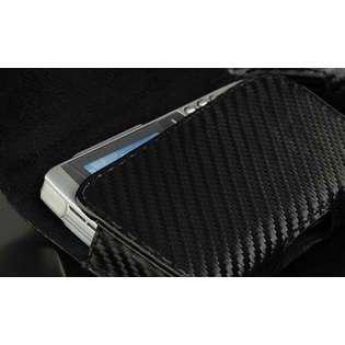 Premium Carbon Fiber Weave Horizontal Leather Belt Clip Pouch Case for