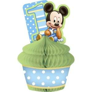 Baby Mickey Mouse First 1st Birthday Centerpiece Decoration Mickey