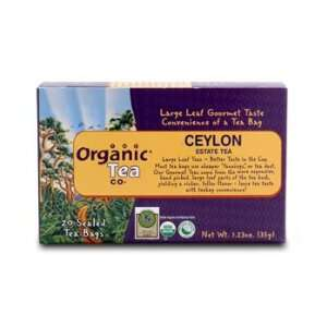 The Organic Tea Company, Ceylon Estate Tea   Box of 20 Tea Tags