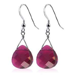Sterling Silver Grace Crystal Fish Hook Earrings Made with