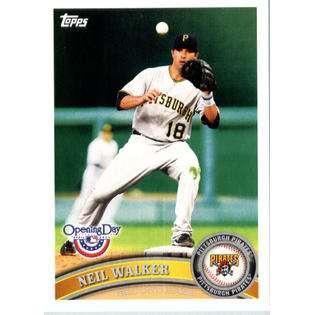 2011 Topps Opening Day Baseball Card #12 Neil Walker Pittsburgh