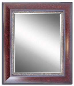 Tuscany Style Framed Wall Mirror Cherry Finish