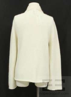 Eileen Fisher Ivory Wool & Mohair Open Cardigan Size M