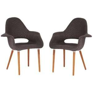Baxton Studio Forza Fabric Mid Century Modern Arm Chair