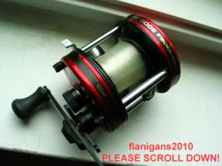 VINTAGE RED ABU GARCIA AMBASSADEUR 5000 HIGH SPEED FISHING REEL