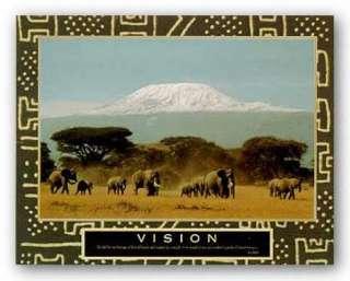 AFRICAN AMERICAN ART Vision Kilimanjaro Motivational