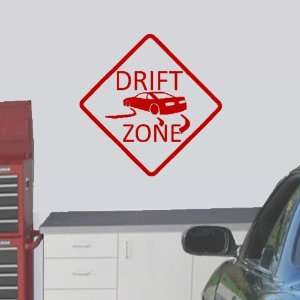 StikEez Red Large Drift Zone Wall Decal Sign