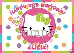 HELLO KITTY Custom Edible CAKE Image Icing Topper