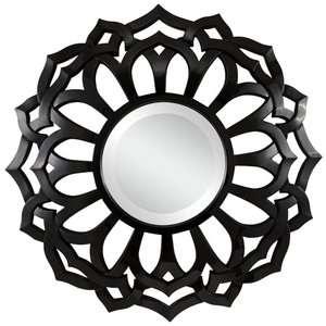 Cooper Classics Covington Wall Mirror in Glossy Black Decor