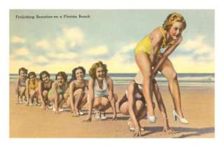 Ladies Playing Leap Frog, Florida Posters at AllPosters