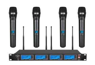 Quad UHF Wireless Hand held Microphone System UGX4