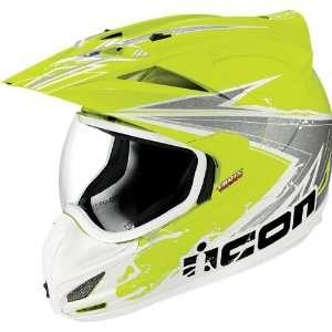 Dual Sport Motorcycle Helmet Salvo Hi Viz Yellow XL Automotive