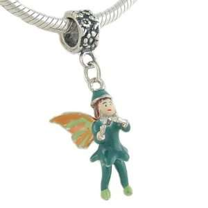 925 Silver Enamel Blue FAIRY Pixie CHARM fits European