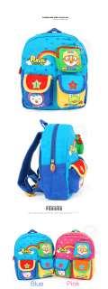 PORORO 3 Pocket Backpack Zipper Bag for Kids & Toddler Baby Blue Pink