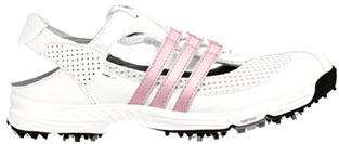 2011 Adidas Slingback 2.0 Womens Ladies Golf Shoes White/Pink Sandals