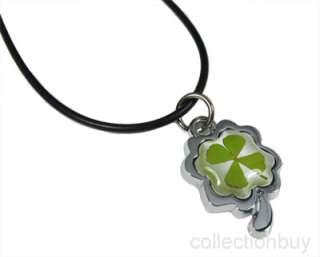 leaf clover 4 lf necklace pendants size 16 2 real 4 leaf clover inside