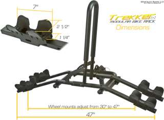 MODULAR 2 4 BIKE CARRIER TIRE CRADLE BICYCLE RACK 1 1/4 & 2 HITCHES