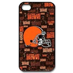 iPhone 4/4s Covers Cleveland Browns logo NFL Theme: Cell