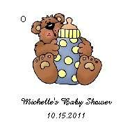 BABY SHOWER / PARTY ~ Favors / Gift TAGS ~ 40 PERSONALIZED 2 Folded