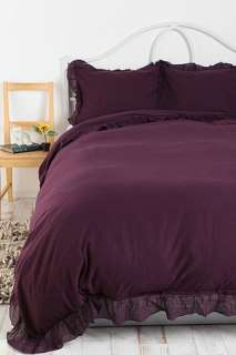 Solid Edge Ruffle Duvet Cover   Urban Outfitters