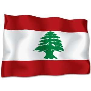 LEBANON Flag car bumper sticker decal 6 wide x 4 high