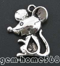 30 Tibetan Silver Animal Mouse Charms Pendants B269