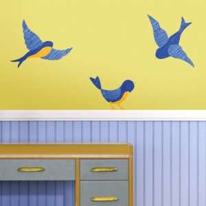Large Bird Wall Stickers   Removable & Repositionable Bluebird Wall