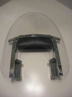 Harley Davidson Motorcycle Clear Shield Fairing with Harley leather