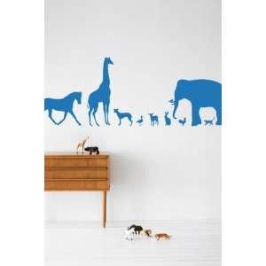 Animal Farm in Blue Kids Wall Stickers