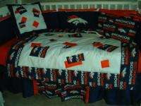 Baby Nursery Crib Bedding Set w/Denver Broncos fabric