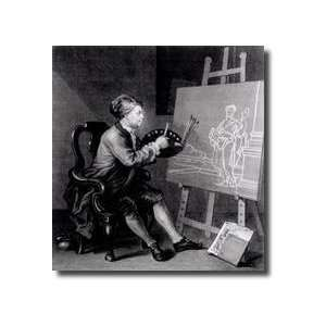 Self Portrait Painting The Comic Muse Engraved By The