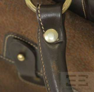 Ghurka Brown Pebbled Leather & Suede The Express No.2 Travel Bag