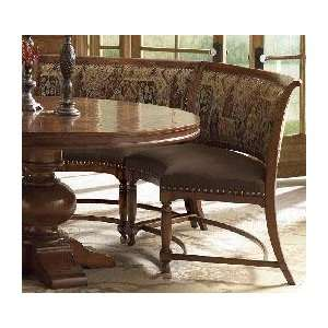 Traditions Curved Formal Dining Bench in Cherry Finish: Home & Kitchen