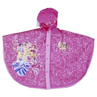 MTv83 Disney Princess Kids PVC Raincoat Clothing