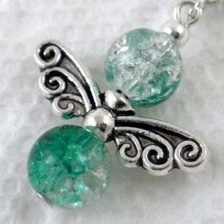 20pcs Tibetan Silver Butterfly Faery Wing Charm Beads 22mm ~Jewelry