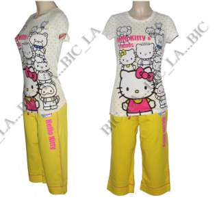 Hello Kitty Sleepwear T Shirt Caprice Pajamas S M L XL