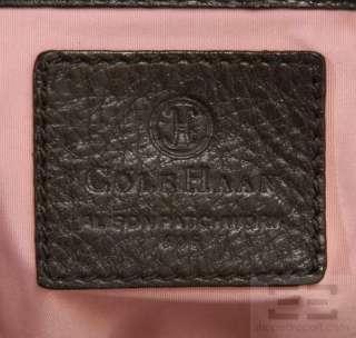 Cole Haan Brown Pebbled Leather Alison Patchwork Handbag F06