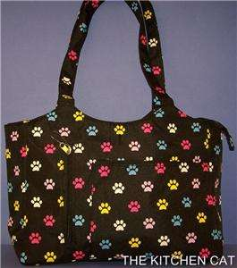 Handbag Shoulder Tote Puppy Cat Dog Paw Print Womens Ladies Purse Bag