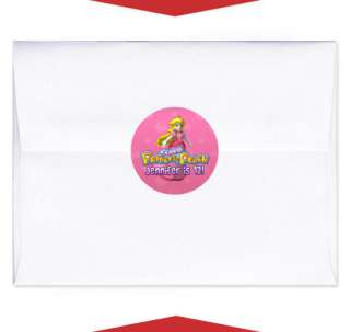 24 PRINCESS PEACH Birthday Party INVITE ENVELOPE SEALS