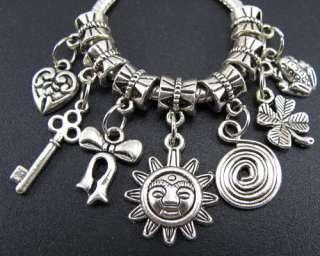 Silver Nice Dangle Beads Fit European Charm Bracelet #fm167