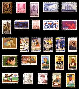 African American Stamp Collection Black Heritage Stamps