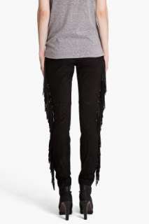 Haute Hippie Drapey Suede Fringe Pants for women