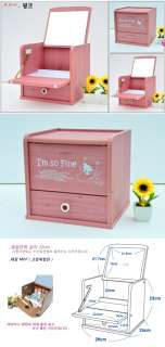 Beauty Dresser Dressing Table Vanity Makeup Box (Pink)
