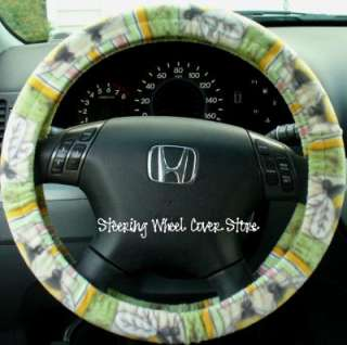 Car Steering Wheel Cover Soft Country Bumble Bee Print