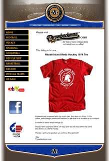 Rhode Island Reds Logo Tee Shirt   Hockey