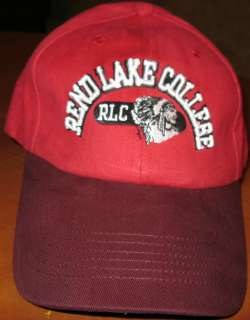 REND LAKE COLLEGE RLC INA, ILLINOIS MENS RED BASEBALL CAP HAT