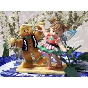 MY LITTLE KITCHEN FAIRY DANCING WITH GINGERBREAD MAN FAIRY