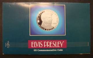 1993 ELVIS PRESLEY MARSHALL ISLANDS 5 DOLLAR COMMEMORATIVE COIN. SIZE